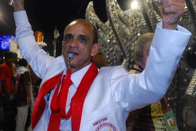 Mestre Ciça: de volta à bateria da vermelho e branco para o desfile de 2019 /Foto: Diego Mendes